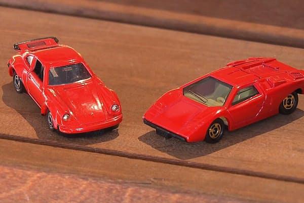 1970年代半ばのスーパーカーブームでは海外の車がモデルのミニカーが人気を集めた