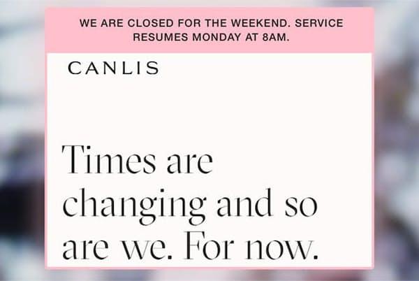 米シアトルの老舗高級レストラン「Canlis(キャンリス)」のサイト。業態転換することが告知されている