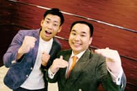 ミルクボーイ 左/駒場孝、1986年2月5日生まれ、大阪府出身。右/内海崇、1985年12月9日生まれ、兵庫県出身。吉本興業所属