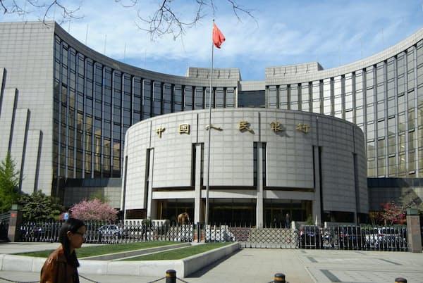 中国人民銀行はデジタル人民元を発行する意向を示している(北京市内の中国人民銀行本店)