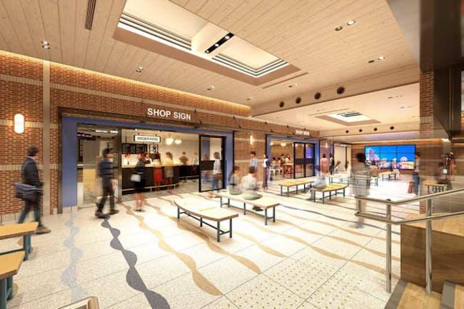 「エキュートエディション横浜」の完成予想図。20年7月に横浜駅、有楽町、飯田橋の3駅に開業予定