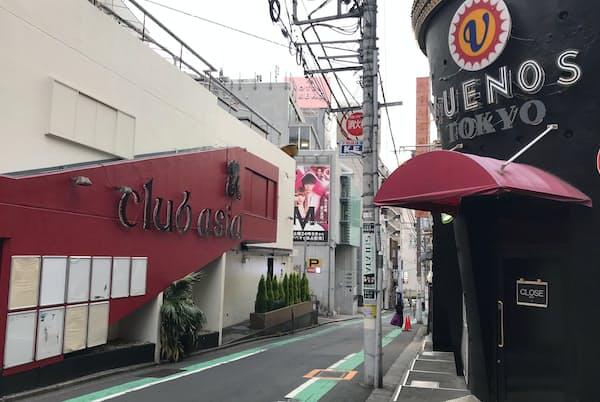 「クラブエイジア」はグループ4店舗のうち3店舗を閉店する(東京都渋谷区)