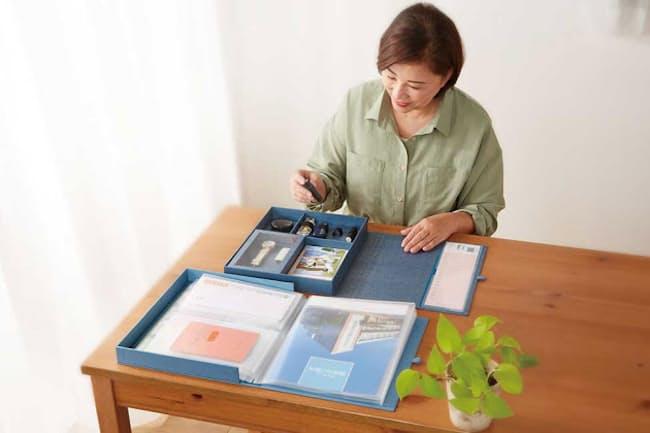 「アレマ」シリーズの第1弾「自分まとめファイル」には、キングジムが長年にわたって培ってきたファイル製造のノウハウが生かされている