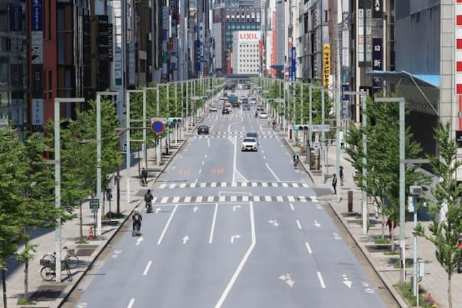 閑散とするゴールデンウイークの東京・銀座。