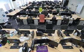 在宅勤務の導入で出社する人が少なくなったオフィス