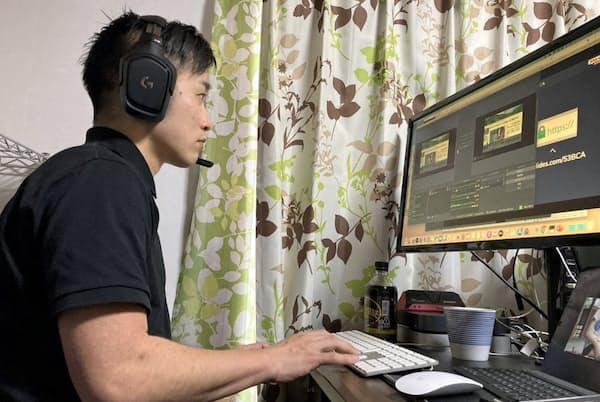 日本IDDMネットワーク主催のウェブセミナーで、自宅から司会を務めた大村副理事長=同法人提供