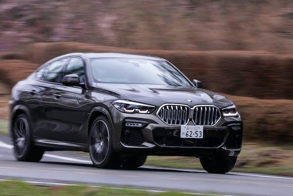 クロスオーバーSUVの先駆けとされ、フルモデルチェンジした「BMW X6」(写真:花村英典、以下同)