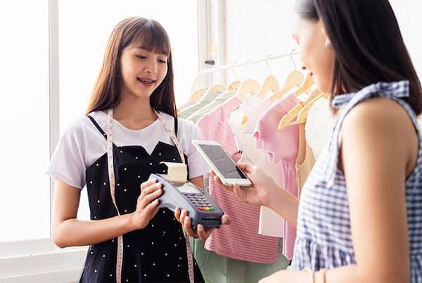 三井住友カードと顧客時間(大阪市)は、Google PayやApple Payの決済などを含む自社カードの利用データを分析。決済の利用金額が2020年3月に前年同期比で83%と17ポイント減少したなど興味深い結果を発表した(写真/Shutterstock)