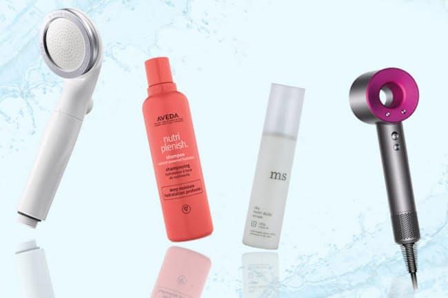 枝毛や切れ毛の原因にもなる、水道水の塩素を減らすシャワーヘッドや、蒸し暑い季節にうれしい速乾&低温ドライヤーなど、美髪を育てる心強いアイテムを紹介(NikkeiLUXEより)