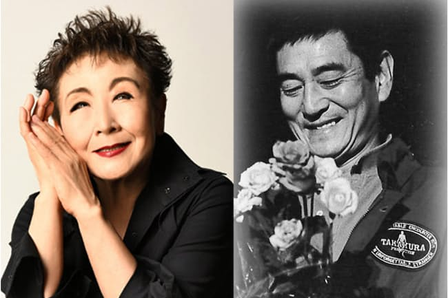 映画「居酒屋兆治」で高倉健さん(右)の女房役を演じた加藤登紀子さん(左)