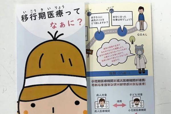 千葉大学医学部付属病院が作成した「移行期医療」について解説するパンフレット