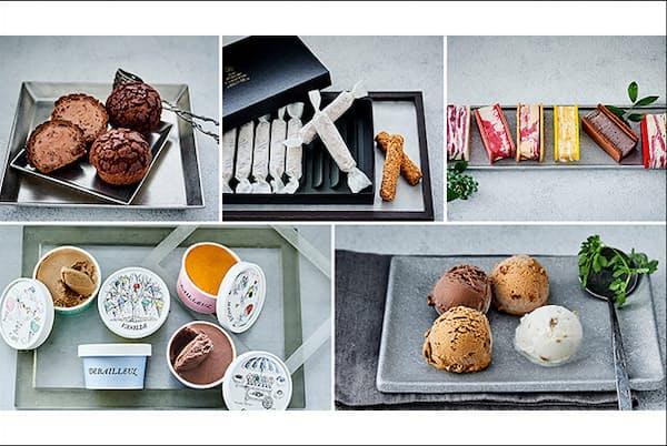 注目のパティスリーのシューアイスや、冷たいフォアグラ、お酒のアイスクリームなど、話題性も抜群な逸品が集合。(NikkeiLUXEより)