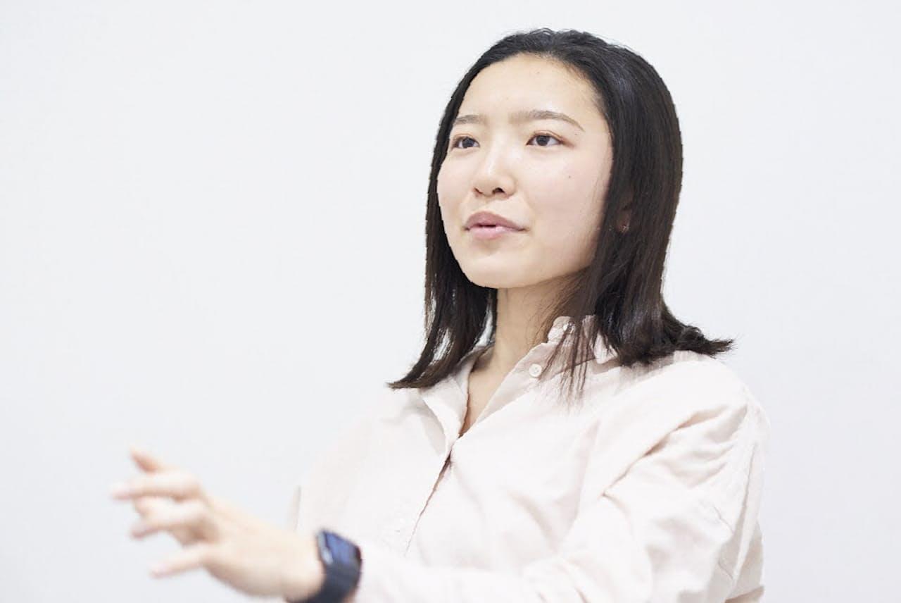 ユーグレナのCFO(最高未来責任者)を務める小沢杏子さん(同社提供)