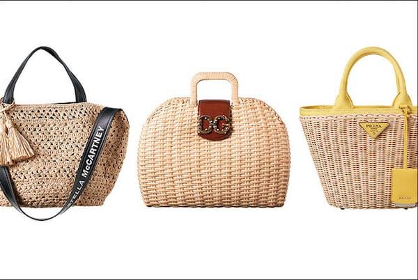 ステラ マッカートニーやドルチェ&ガッパーナなど、憧れブランドのカゴバッグが集結。(NikkeiLUXEより)