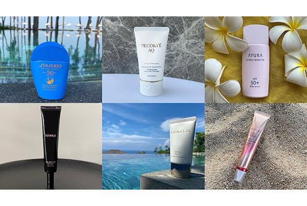最新の日焼け止めは、エイジングケア、保湿、花粉や大気汚染物資のブロック、肌色補整など、紫外線カット以外にうれしい機能も。(NikkeiLUXEより)