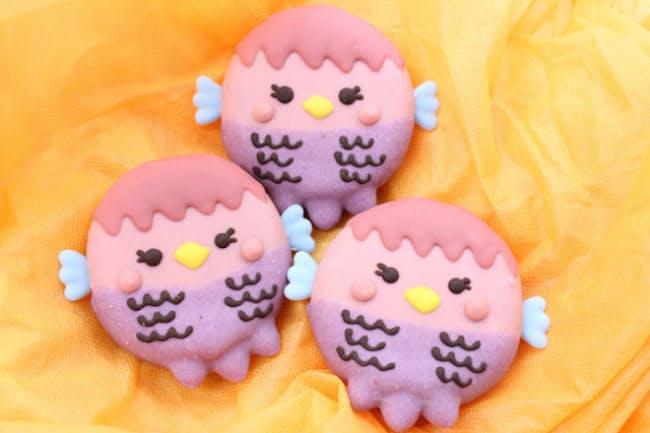 「イクミママのどうぶつドーナツ!」の「アマビエドーナツ」(3個入り、税込み1300円)