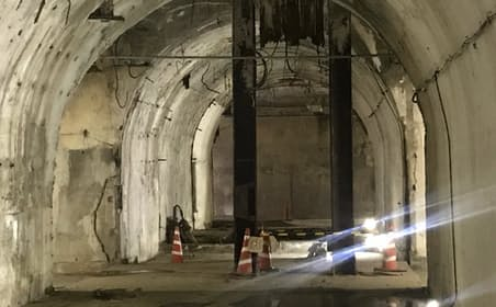 東京・市谷の防衛省敷地内にある旧陸軍の大本営地下壕(ごう)跡