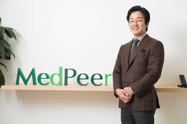 メドピアの石見陽社長は「集合知で医療を再発明する」というビジョンを掲げる