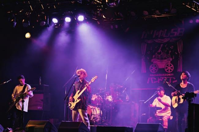 沖縄のバンド、かりゆし58が出演した1000 Clubのこけら落とし公演は、無観客配信で行われた=photo by 桜子