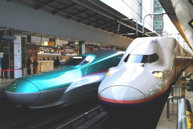 東北新幹線(左)や上越新幹線(右)などの普通車指定席が半額に