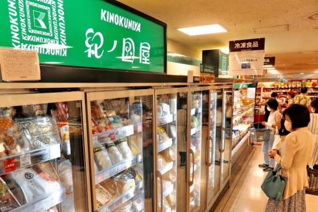 冷凍食品売り場は同規模店の3倍に充実させた