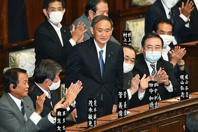 菅義偉首相は自民党の総裁選を圧勝で制した