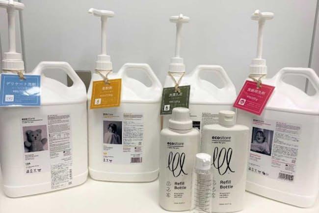 ナチュラルローソンで8月26日から実験的に実施している洗剤の量り売り