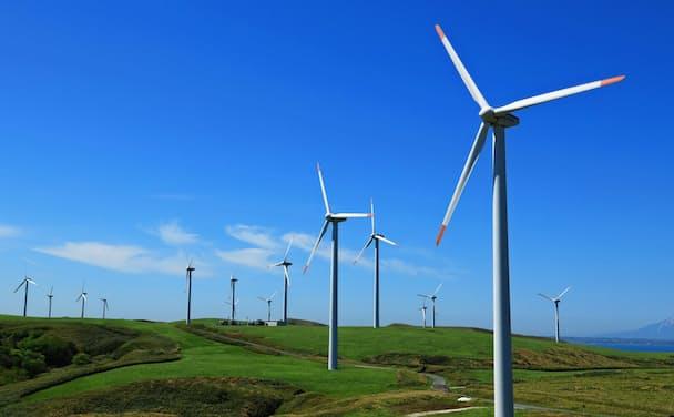 環境融資に力を入れる。融資先の一つ「ユーラス宗谷岬ウインドファーム」