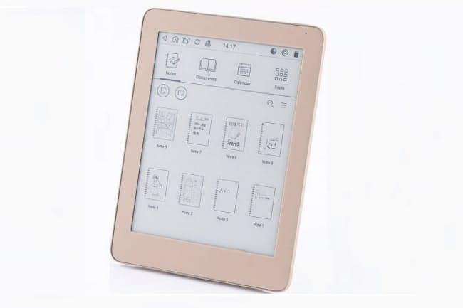 イーインク製で6.8型の電子ペーパーディスプレーを搭載し、紙のノートでいうと8万7000ページ分のメモなどを保存できるデジタルノート