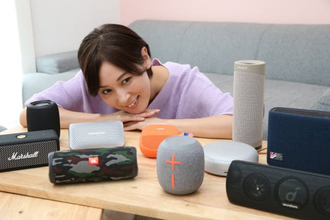 価格も手ごろで小型、高音質のスピーカーが数多く販売されている。