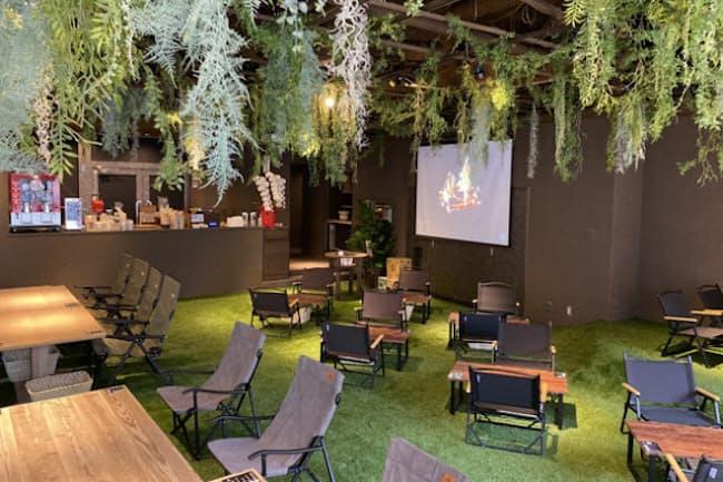 屋内でも緑いっぱいのアウトドア気分に浸れるカフェ「REWILD OUTDOOR TOKYO」