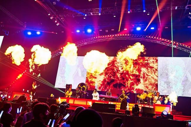 アリーナ級ライブ再開の先駆けとなった和楽器バンドの横浜アリーナ公演=KEIKO TANABE撮影