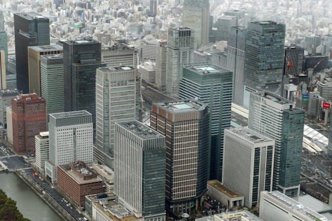 東京都心のオフィスビル空室率は上昇傾向がみえている(写真はイメージ)