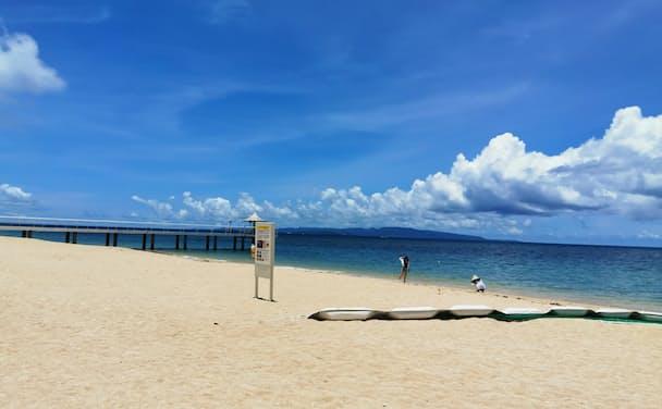 沖縄・石垣島の「フサキビーチリゾートホテル&ヴィラズ」のビーチ(2020年7月、筆者撮影)