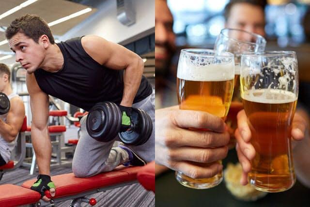 運動後にお酒を飲むのは気分がいい。だが、筋トレの効果をアルコールが打ち消してしまうかもしれないという研究結果がある。(c)dolgachov-123RF