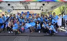 2019年4月、LGBTQを支援するためのパレードに社員グループが参加した