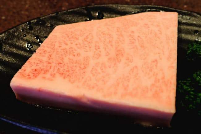 「季楽」では年に何度か特上肉が入荷する