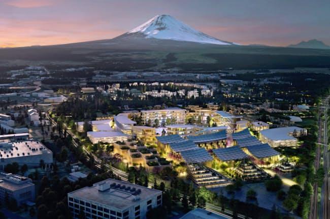 都市をデジタル化するスマートシティー構想は各地で相次いでいる(静岡県でトヨタ自動車が計画する構想のイメージ図)