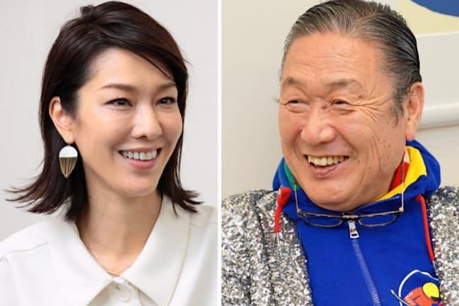 父・山本寛斎さん(右)が亡くなった後、単独インタビューに答える未來さん