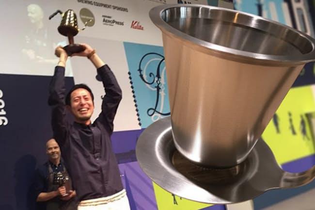 粕谷哲さんはワールドブリュワーズカップ優勝の後、「コーヒーの新しい価値の創造」をより強く意識するようになった。新ドリッパー開発もその一環だ