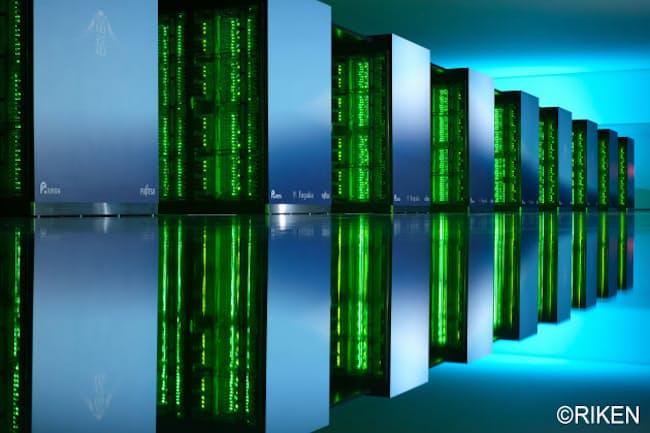 スーパーコンピューター「富岳」。「京」の跡地に設置された(提供:理化学研究所)