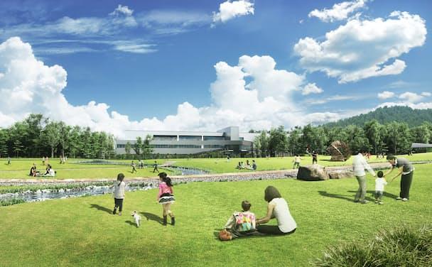 この春稼働する大町工場(長野県)はサントリー として初めて「CO2排出ゼロ工場」を実現する