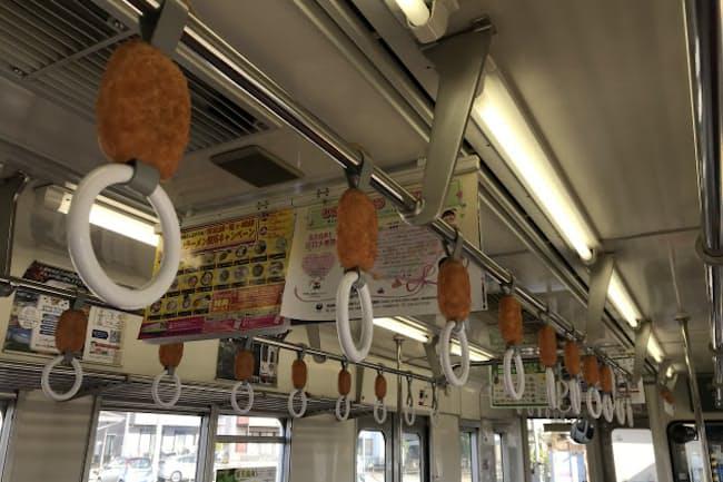 関東鉄道竜ケ崎線名物の「コロッケトレイン」は、龍ケ崎コロッケへのオマージュだ
