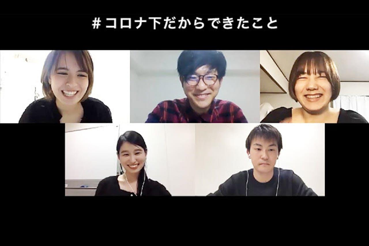 上段左から、スピーカーの佐久本さん、林さん、矢島さん。下段左から、司会の安山さん、倉内さん。