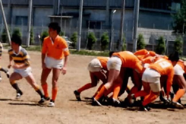 若い頃に社内にラグビー部を創部し、強豪チームとも戦った