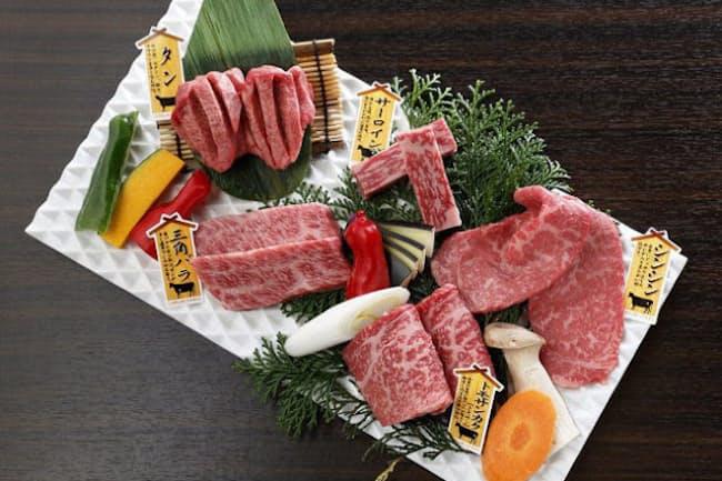 銘柄にとらわれることなく、上質な肉をえりすぐった「極み盛り合わせ」