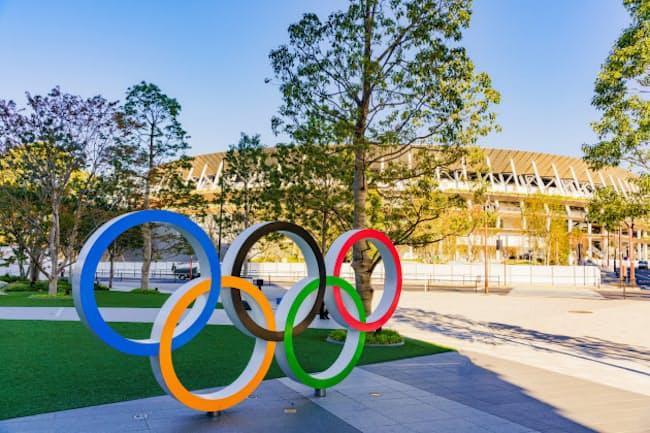 東京五輪・パラリンピックは多くの会場で無観客となる(2019年11月末撮影)