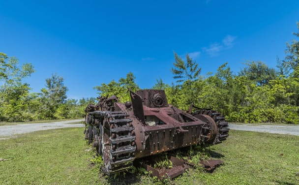 太平洋の島嶼部に残る旧日本軍の装備